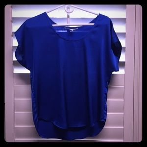 Shimmer royal blue top. No tags but NEVER WORN